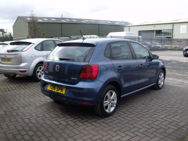 YD16SPK - Volksagen Polo Match bluemotion 5 door hatchback  999cc