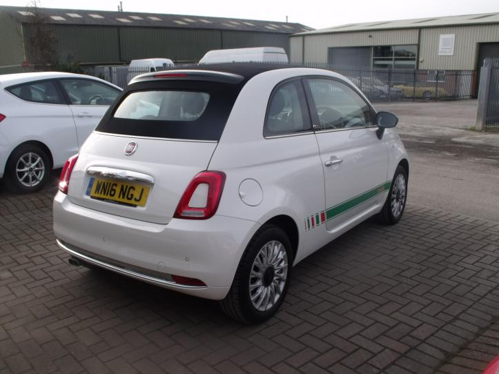 WN16NGJ - FIAT 500C Lounge Convertible  1242cc